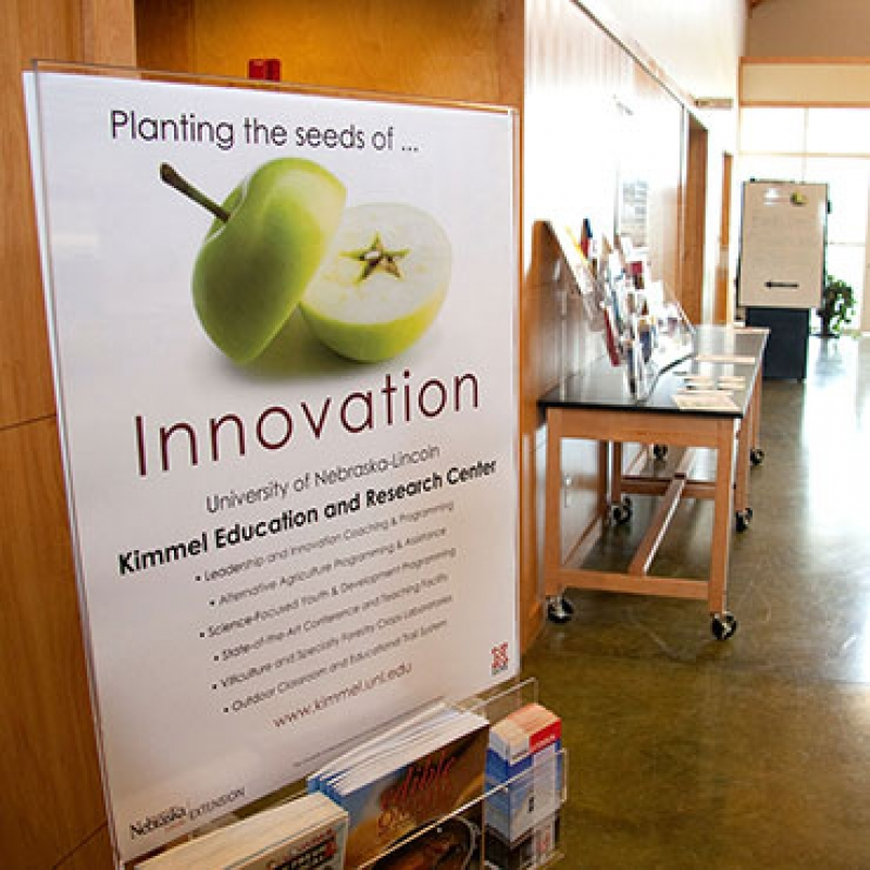 innovations poster and classroom